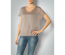 Shirt-Bluse mit Jersey-Top
