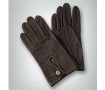Handschuhe Schaf-Velours, dunkel