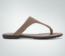 Schuhe Zehensandale aus Veloursleder