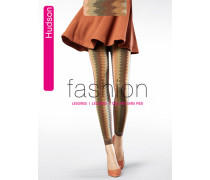 Feinstrümpfe Casual Zigzag, Leggings, golden green