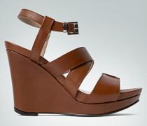 Schuhe Wedge-Sandalette aus Glattleder