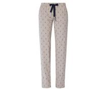 Nachtwäsche Pyjamapants mit Anker-Dessin