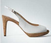 Schuhe Peeptoes mit Kork-Details