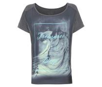 T-Shirt mit Satineinsatz