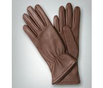 Handschuhe, Hirschleder, gefüttert, taupe