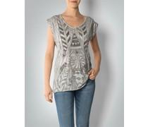 T-Shirt mit Perlenbesatz