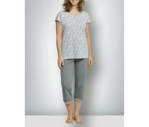 Nachtwäsche Pyjama in 3/4 Länge