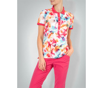Polo-Shirt mit Flower-Print