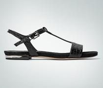 Schuhe Sandale in Kroko-Prägung