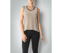 Shirt-Bluse im Two-Tone-Look