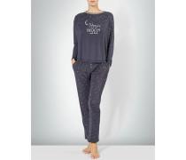 Nachtwäsche Pyjama im Allover-Dessin