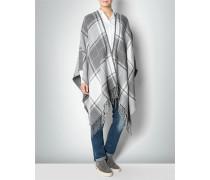 Pullover Poncho im Karo-Look