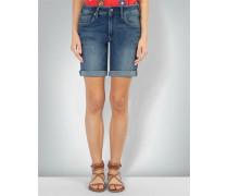 Jeans-Shorts mit gekrempeltem Saum
