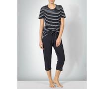 Nachtwäsche Pyjama im Streifen-Look
