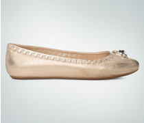 Schuhe Ballerina im Metallic-Look