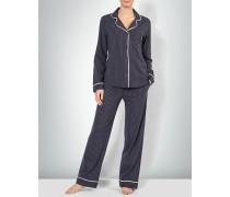 Nachtwäsche Pyjama mit Revers