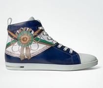 Schuhe Leder-Sneaker mit Reiter-Motiv