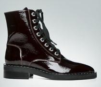 Schuhe Lack-Boots mit Nietenbesatz