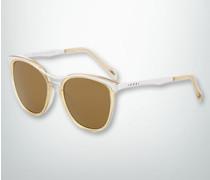 Brille Sonnenbrille mit geschwungenem Metalloberrand