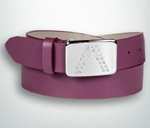 Gürtel Gürtel mit Strass-Logo-Schließe