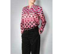 Bluse mit Retro-Muster