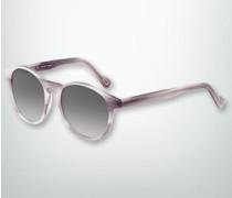 Brille Sonnenbrille in marmoriertem Dessin
