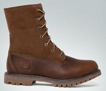 Schuhe Stiefelette aus Leder-Mix