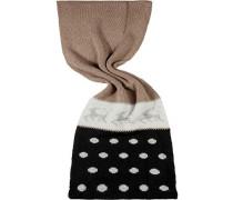 Schal, wollmischung, -grau-weiß
