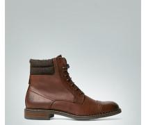 Schuhe Schnürstiefelette mit Kontrast-Schaft