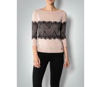 Pullover mit Spitzen-Print