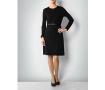 Kleid mit Details in Leder-Optik