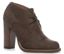 Schuhe Issenia, Kalbnubuk, dunkel