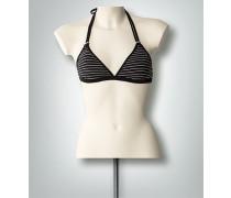 Bademode Triangel-Bikinioberteil im Streifen-Look