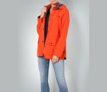 Regenjacke in Leuchtfarbe