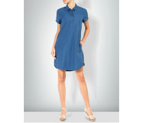 Shirtkleid in Denim-Optik mit feinen Streifen