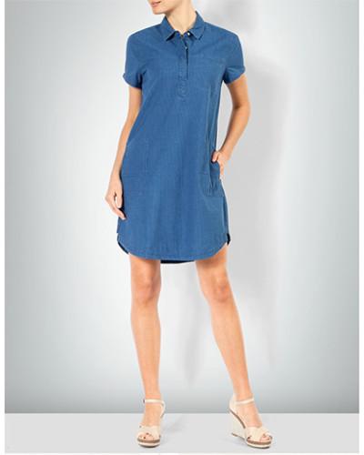 Shirtkleid in Denim-Optik mit feinen Streifen