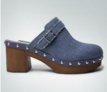 Clogs in Jeans-Optik