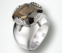 Schmuck Ring, Rauchquarz, 925er Sterlingsilber