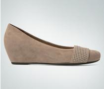 Schuhe Keilballerina aus Veloursleder