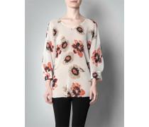 Tunika-Bluse mit Blumen-Print