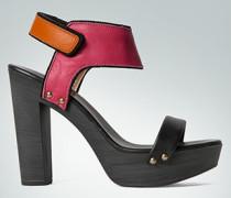 Schuhe Plateau-Sandalette im Color-Blocking-Design