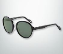 Brille Sonnenbrille mit Metallsteg in Silber
