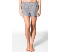 Nachtwäsche Pyjama-Shorts, Baumwolle, -weiß