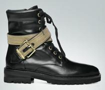 Schuhe Boots mit Zierriemen