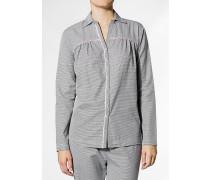 Pyjamahemd, Baumwolle, -weiß