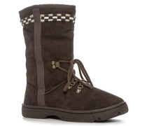 Schuhe Schnee-Boots, Lederimitat-Textil, bunt kariert