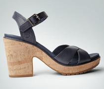 Schuhe Plateau-Sandalen aus Leder