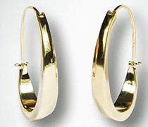 Schmuck Ohrringe in ovaler Form