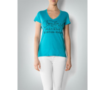 T-Shirt mit Label-Print
