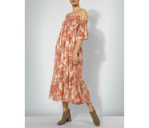Off-Shoulder-Kleid mit tropischem Print